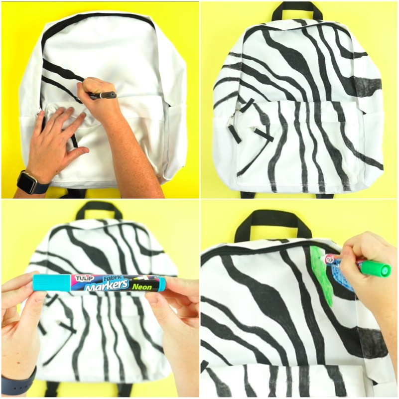 Neon Zebra Backpack