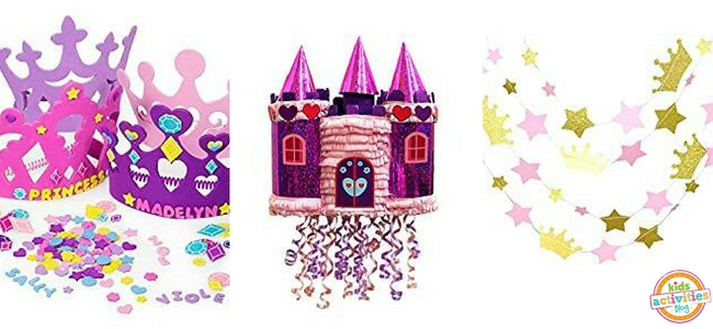 Princess Party Ideas - Crafts, Pinata, and Garland