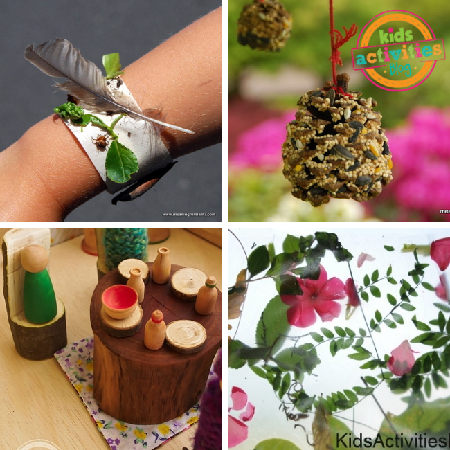 outdoor nature crafts for kids from Kids Activities Blog