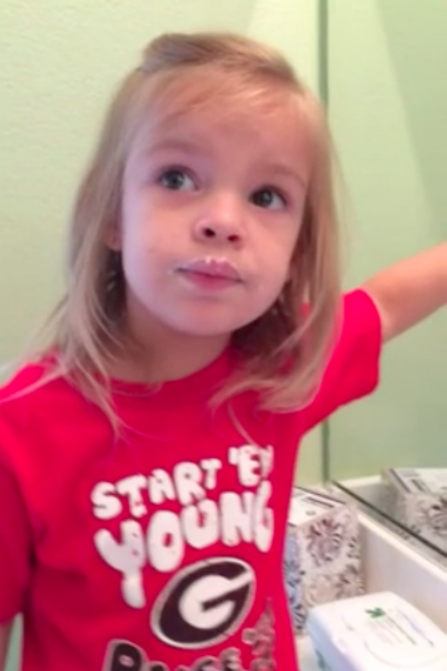 Little Girl Denies Eating Donuts, Even Though The Evidence Is All Over Her Face