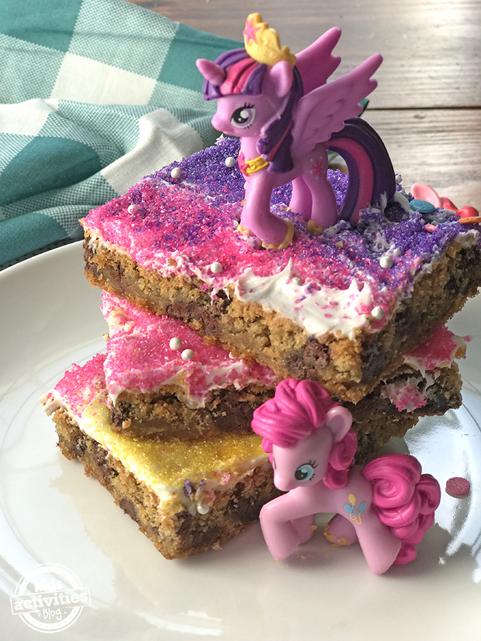 My Little Pony inspired cookie cake
