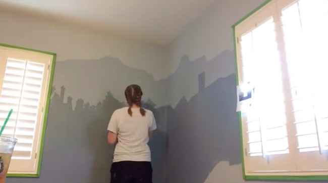 Painting of the Harry Potter nursery is getting more colors