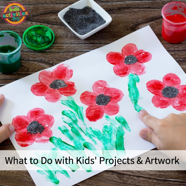 What to Do with Kids' Projects When They Come Home From School