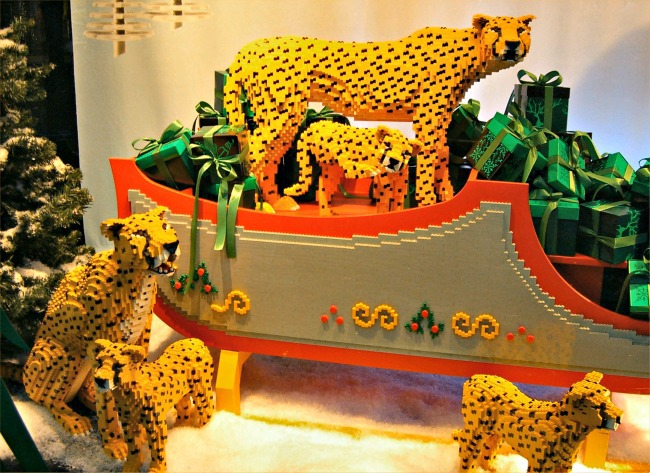 screenshot from how legos are made video with complicated set of leopards