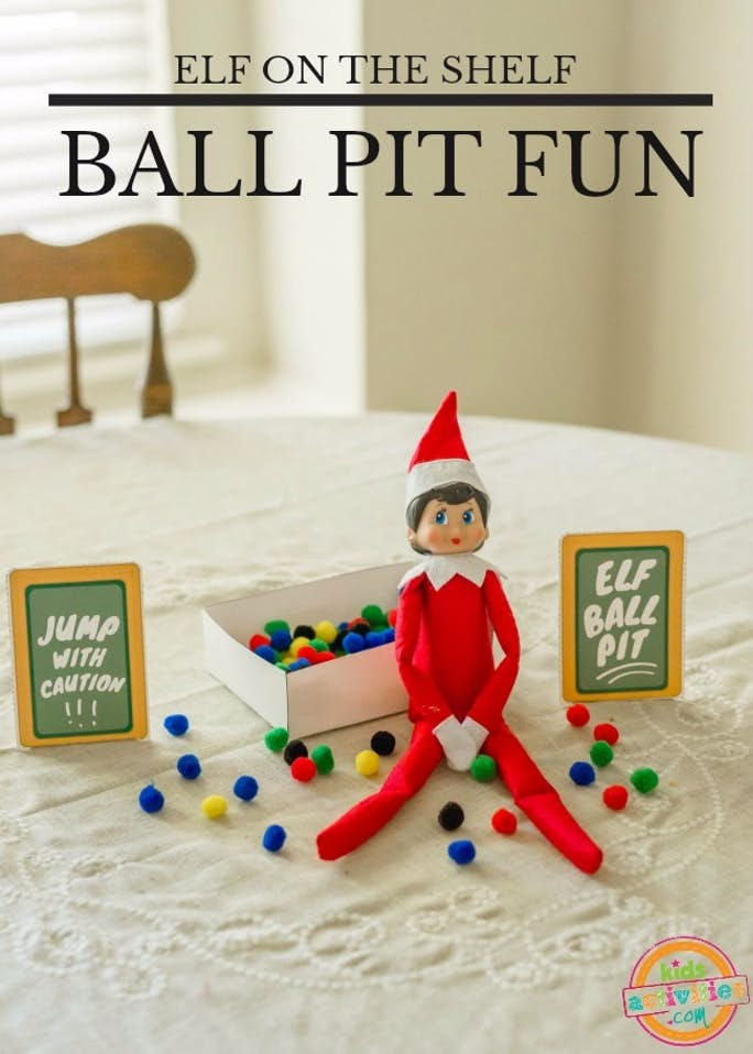 Elf on the Shelf Ball Pit Fun