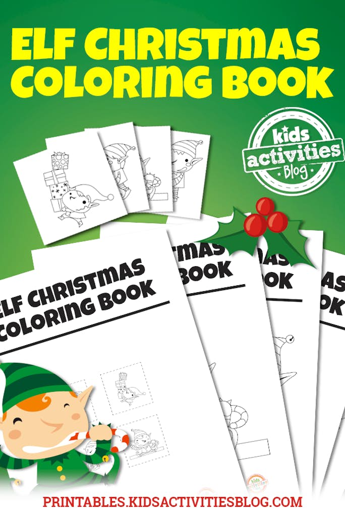 Elf Christmas Coloring Book