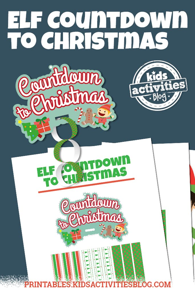 Printable Elf on the Shelf Countdown Activity
