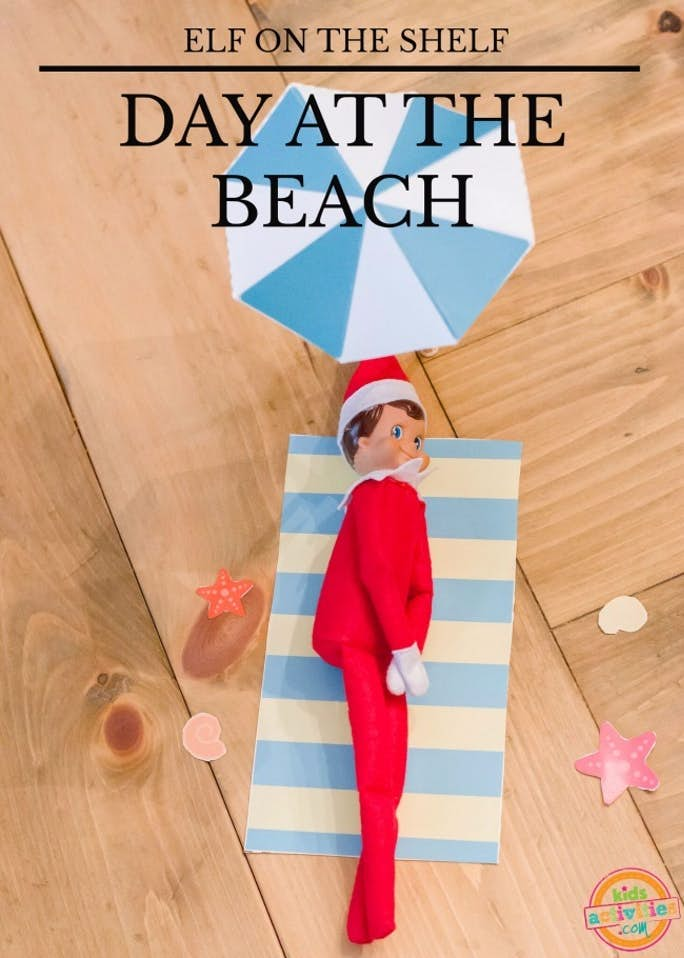 Elf on the Shelf Day at the Beach