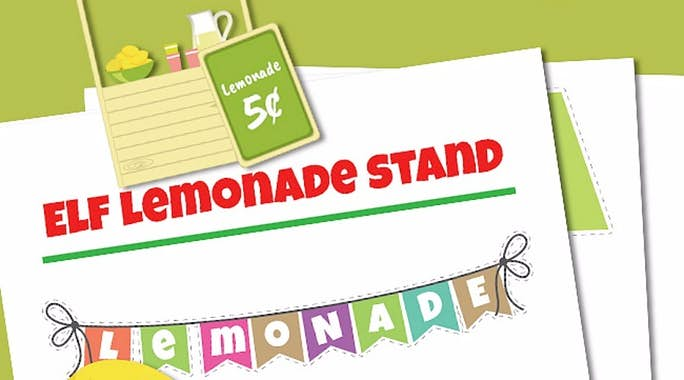 Elf on the Shelf Lemonade Booth