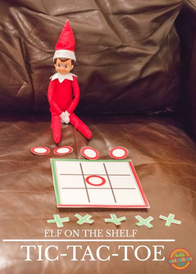 Elf on the Shelf Tic Tac Toe