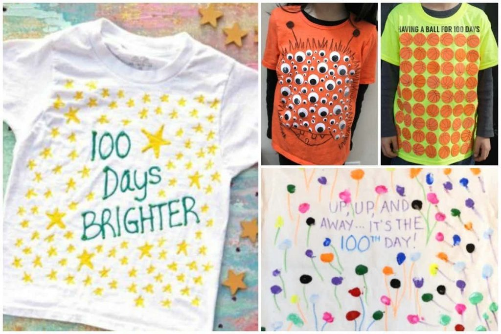 100th Day of School Shirt Ideas - 100 days brighter, eyeballs, 100 balls, Up up and away its the 100th day