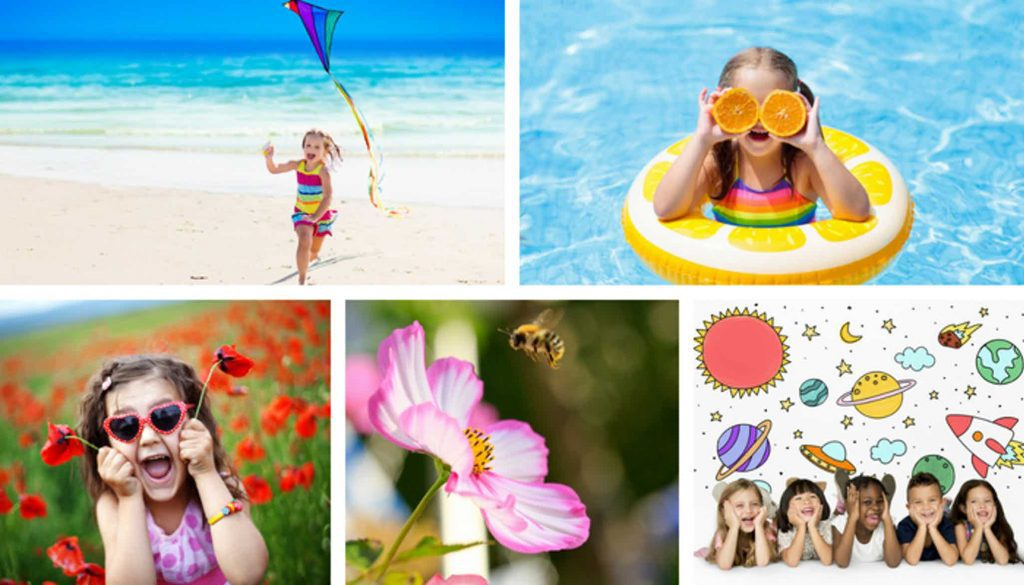 Busy Summer Collage