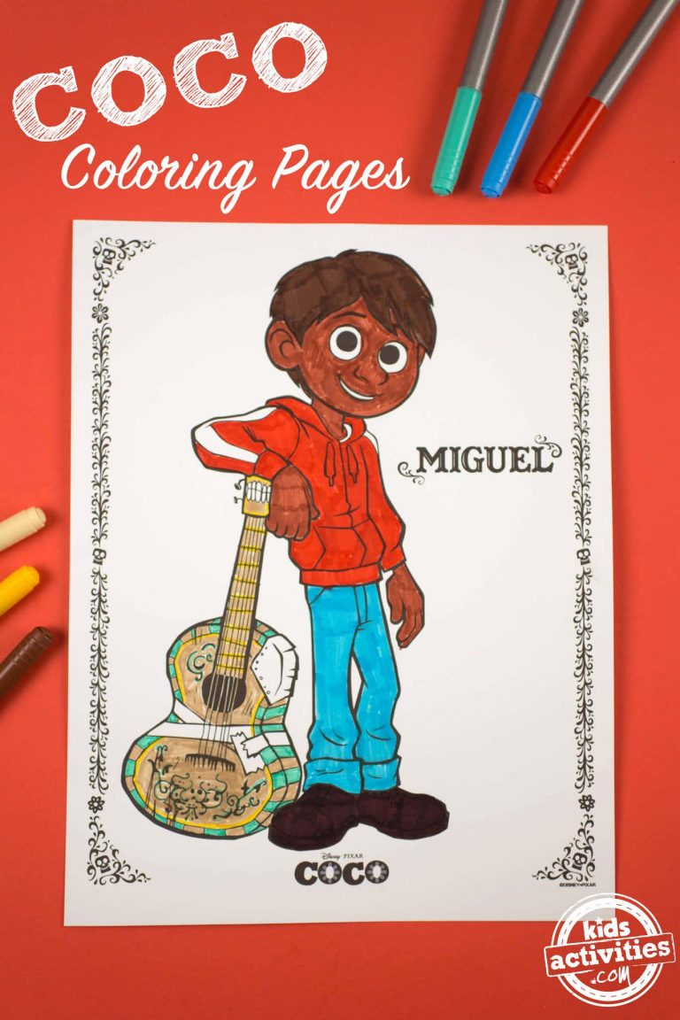 COCO Coloring Pages for Kids