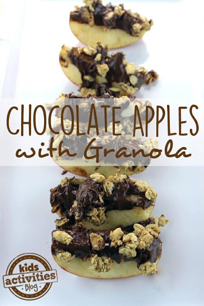 Chocolate Apples with Granola
