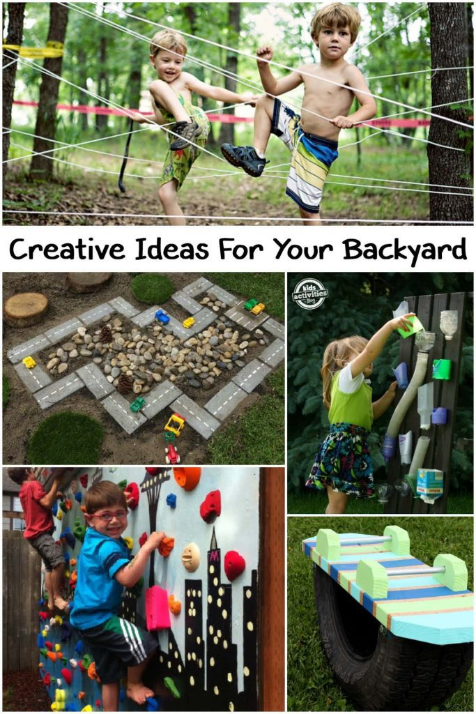 DIY Backyard Ideas that get families active