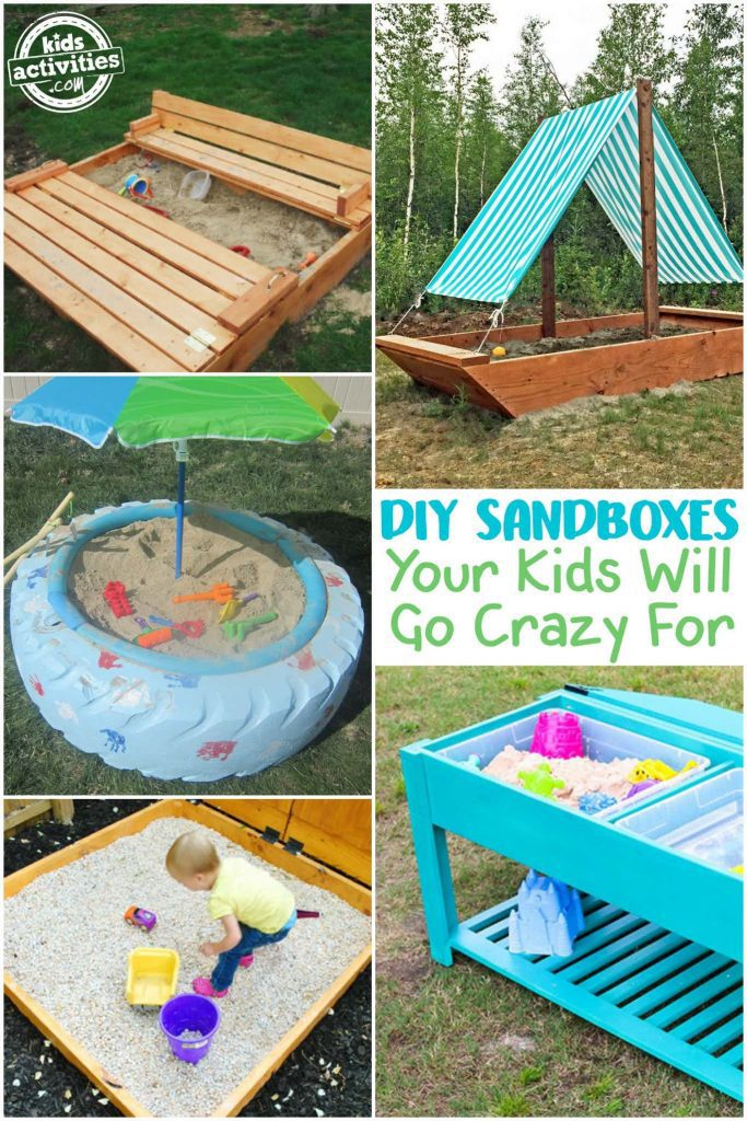 DIY Sandboxes Your Kids Will Go Crazy For