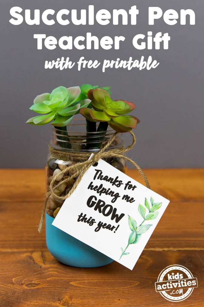 Succulent Pens Teacher Appreciation Gift