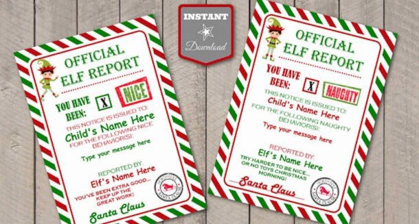 Elf Shelf Printables Elf Report