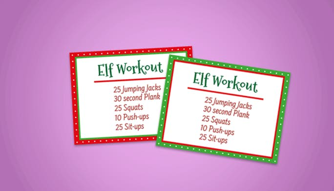 Elf on the Shelf Workout