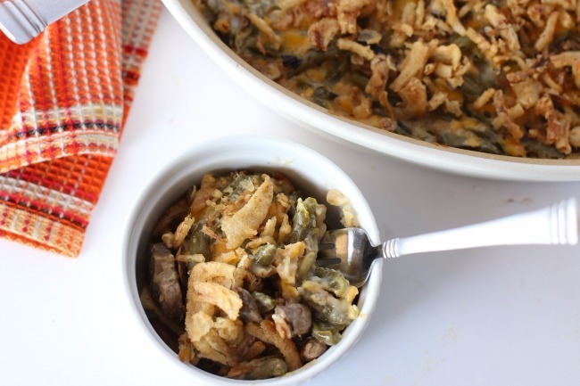 Green Bean Casserole In Bowl