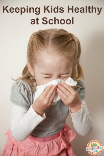 Keeping Kids Healthy At School Girl Sneezing