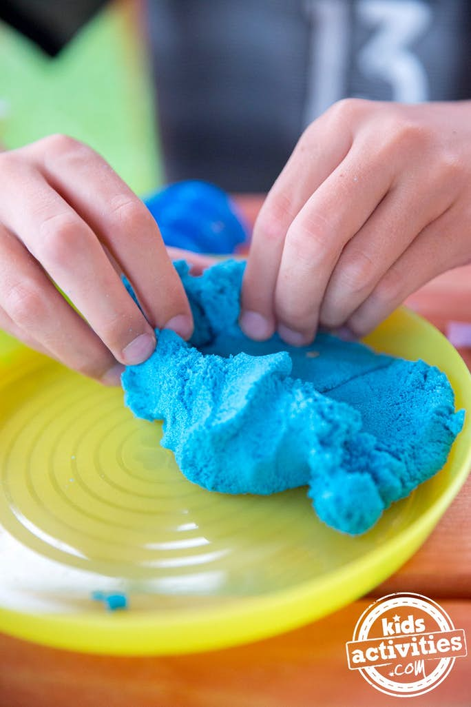 Playing with kinetic sand