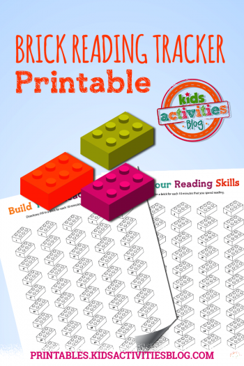 Lego Inspired Free Printable Reading Tracker For Kids