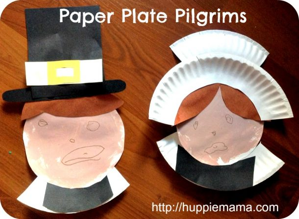 Pilgrims made of paper plates