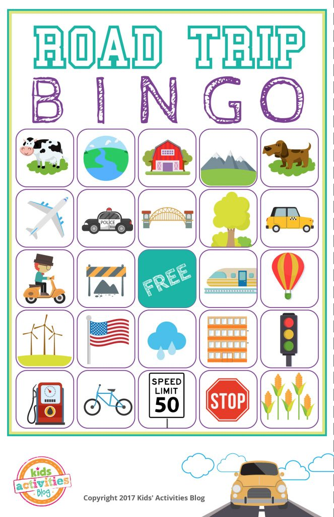 Road Trip BINGO Printable Game