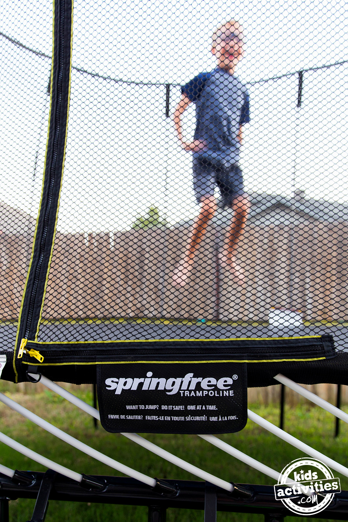 springfree trampoline zipper enclosure