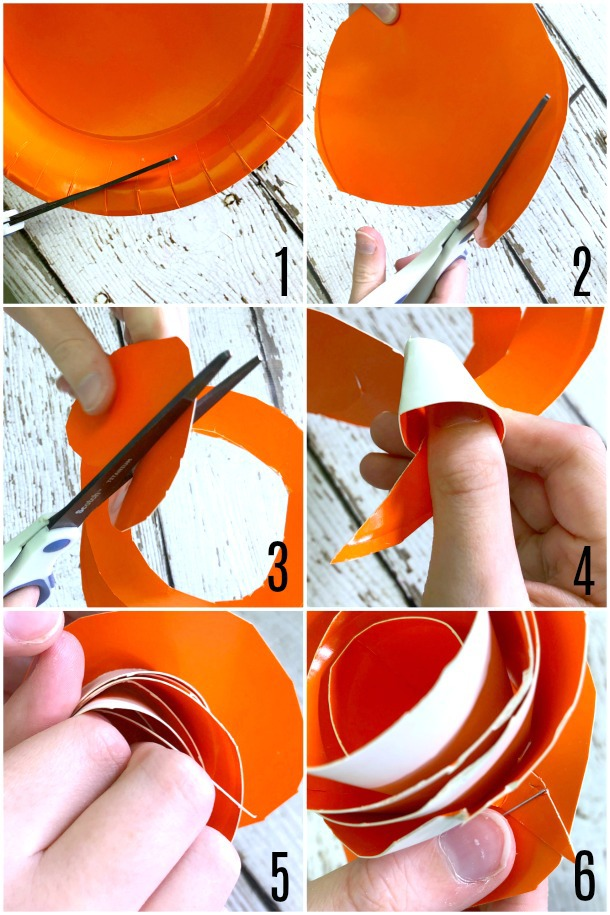 Steps to Make a Paper Plate Rose