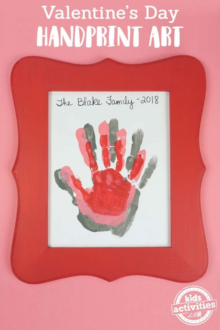 Valentine's Day Handprint Art Will Be Your Favorite Present This Year