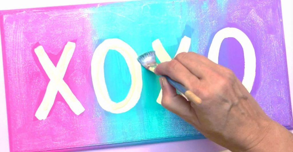 XOXO Wall Sign With Hand Painting