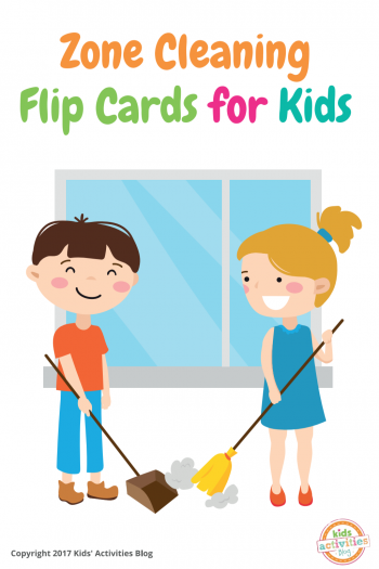 Zone Cleaning Chore Cards for Kids