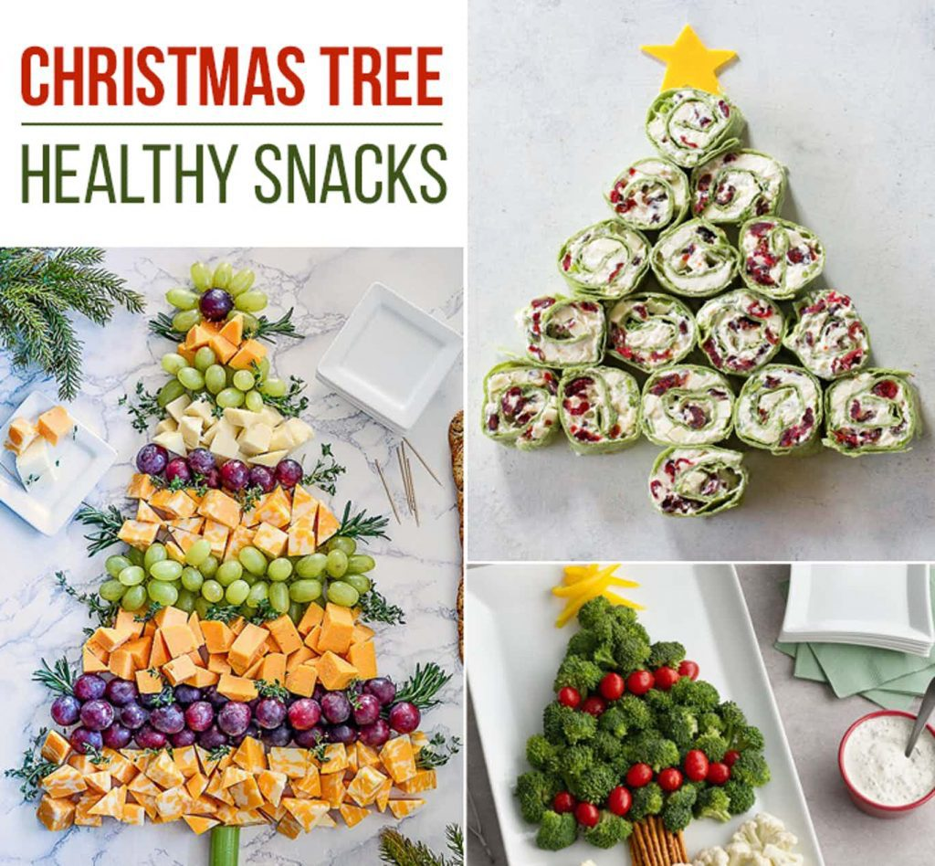 edible christmas trees - savory tree shaped food