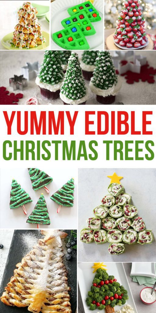 edible christmas trees - treats shaped like trees