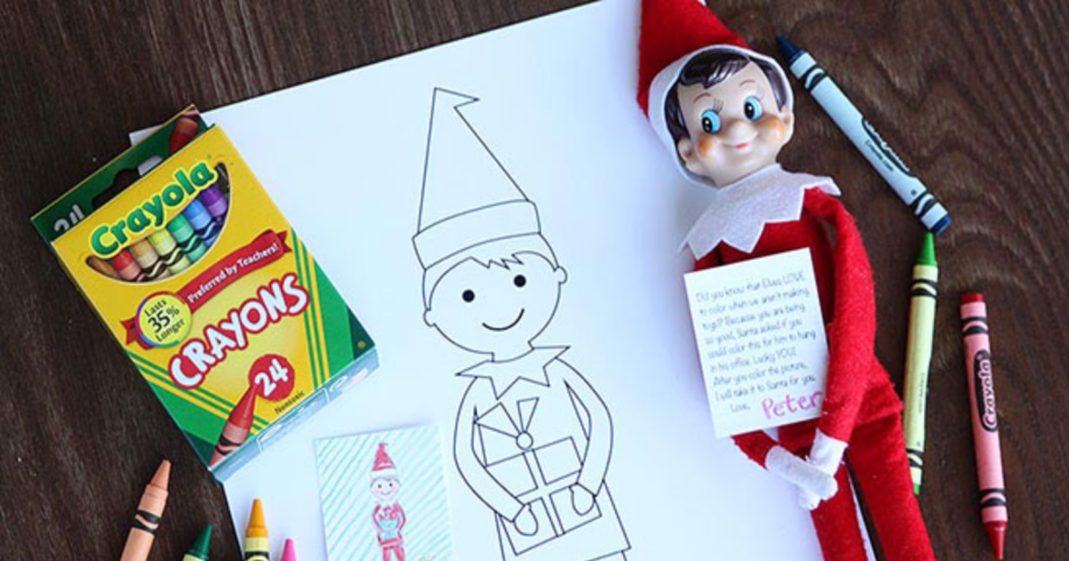 Elf On The Shelf Coloring Pages For Kids And Elves