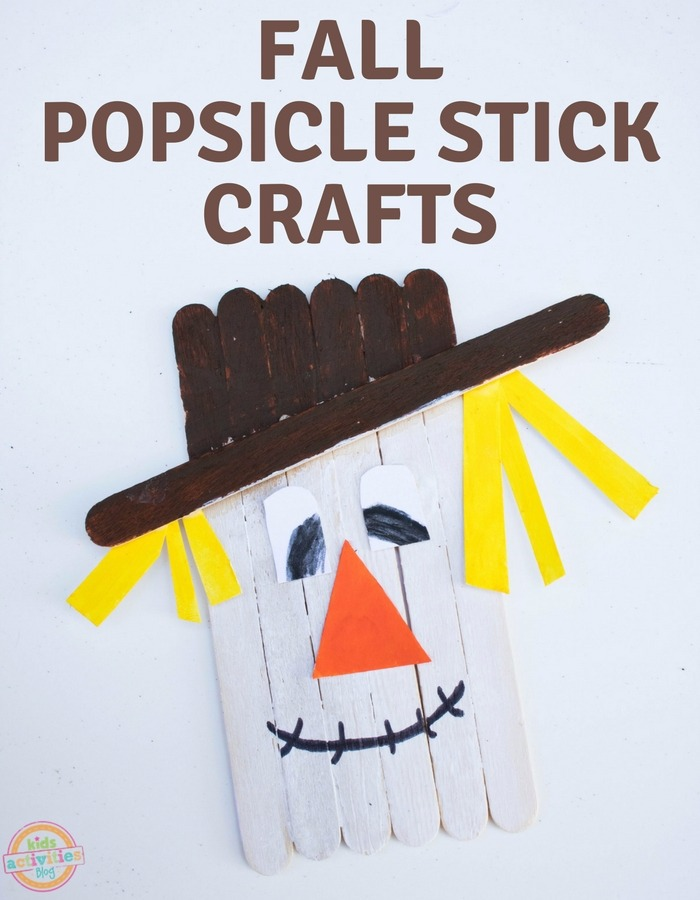 fall popsicle stick crafts scarecrow
