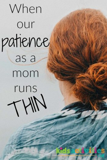 learning to be more patient as a mom