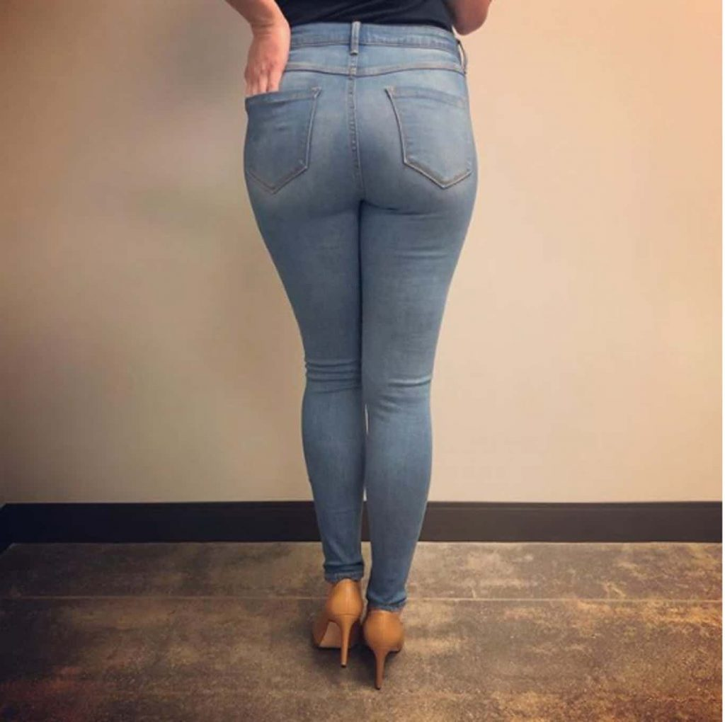 lularoe jeans from behind