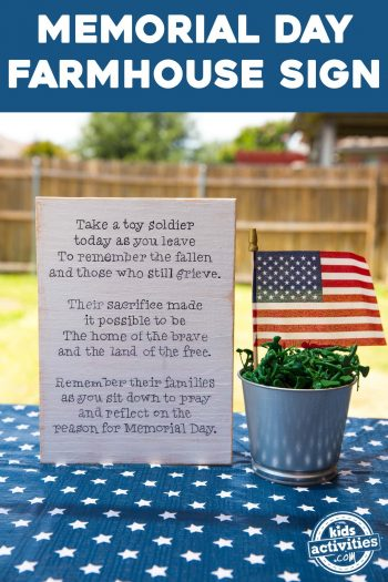 memorial day patriotic sign