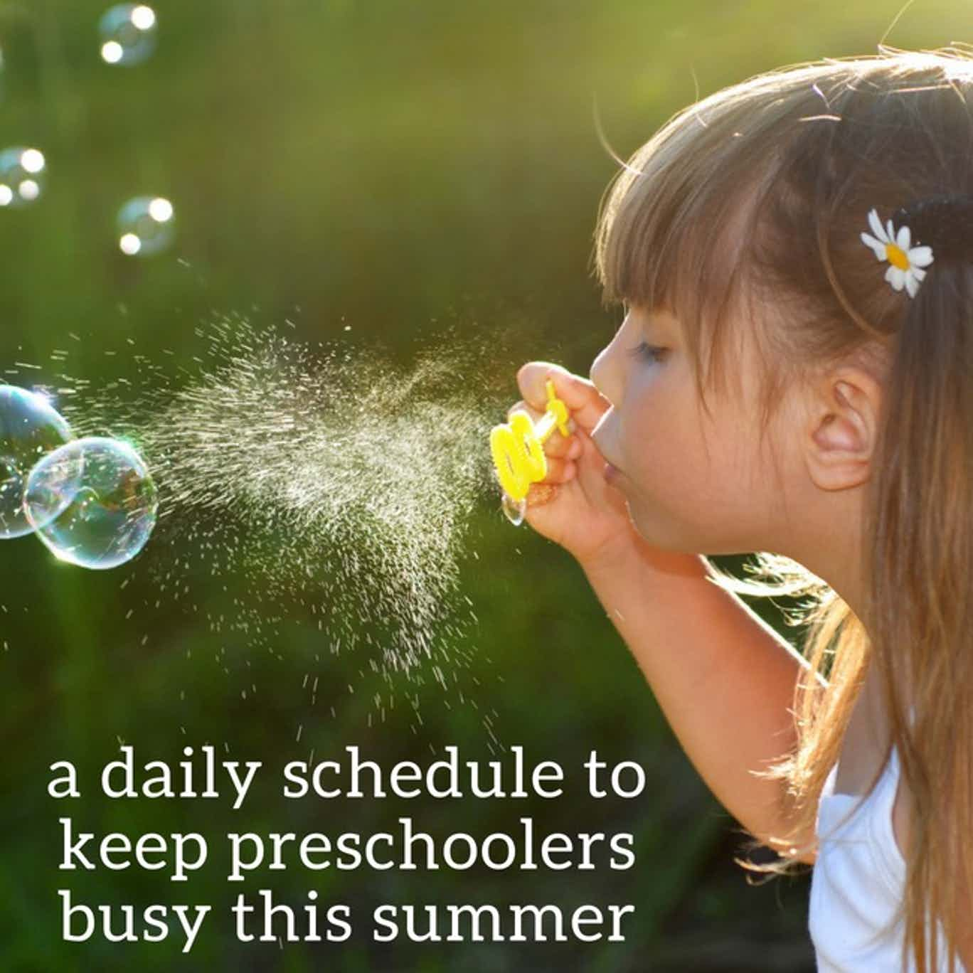 preschool summer schedule - quote