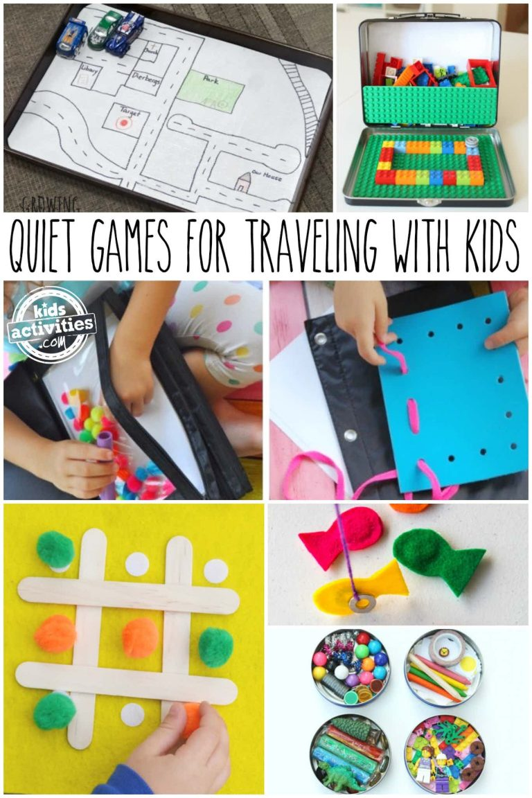 Quiet Games for Traveling with Kids
