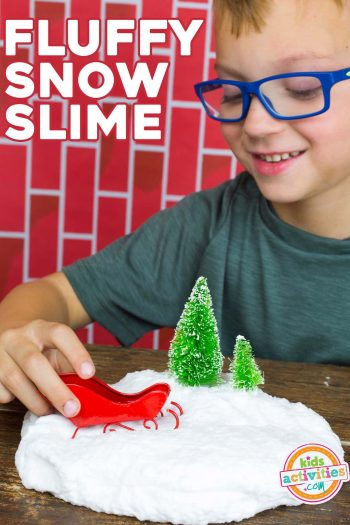 snow slime - fluffy DIY snow slime