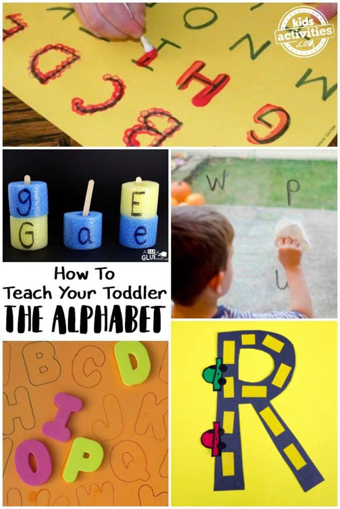teach toddler the alphabet - learning activities for toddlers