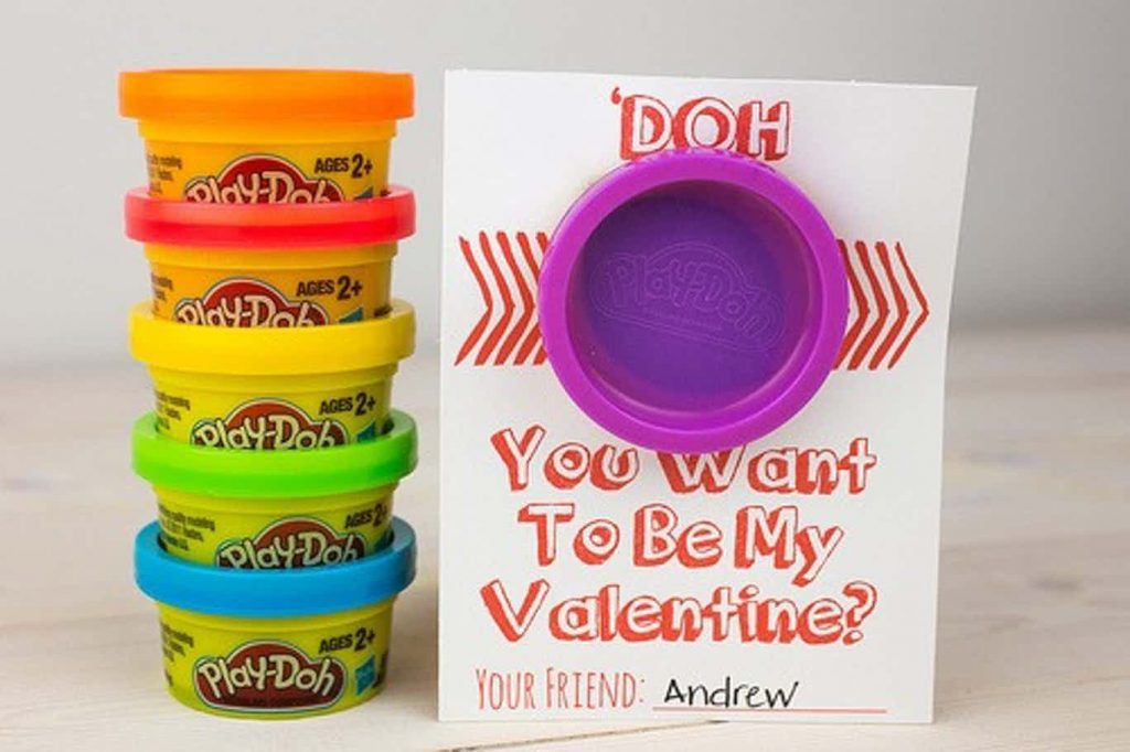 valentines for school to print - Doh you want to be my valentine