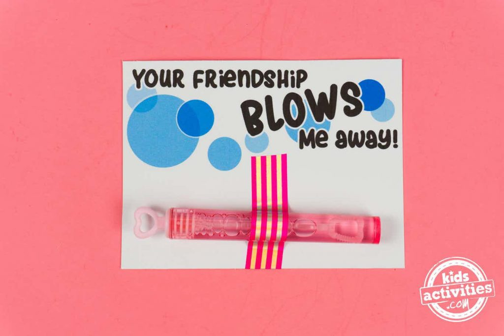 valentines for school to print - your friendship blows me away