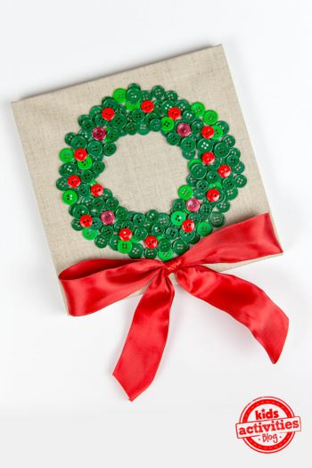 Christmas Button Wreath
