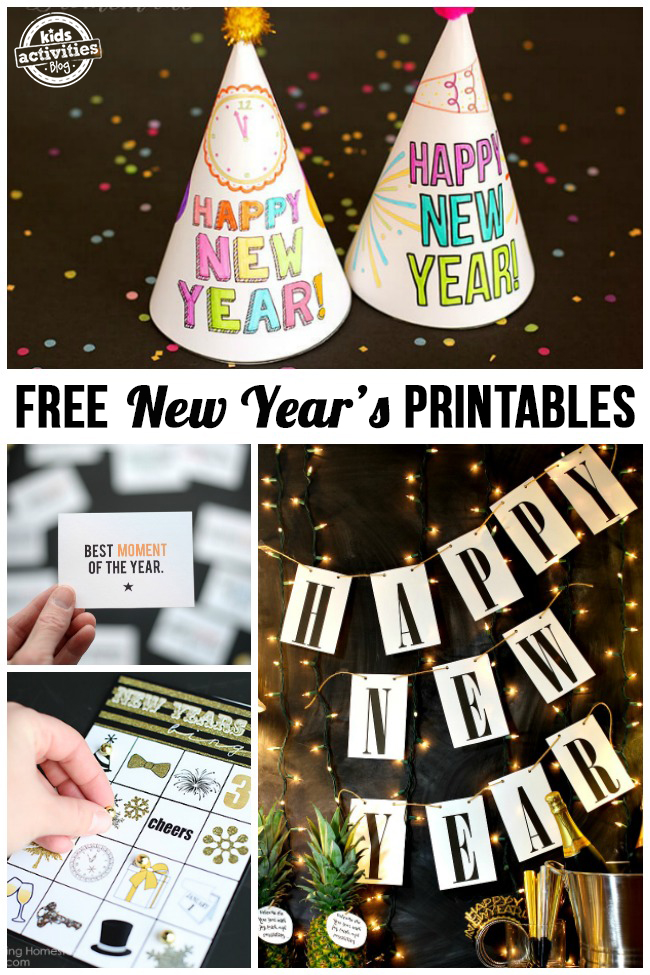 Free New Year's Printables