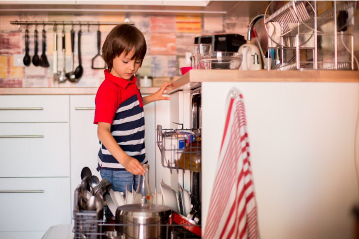 Kids age appropriate chore list - filling dishwasher - Kids Activities Blog